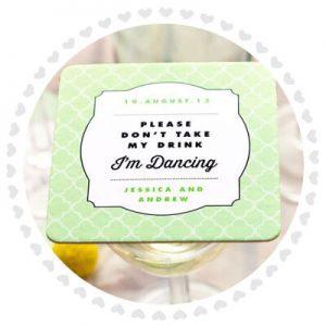 Drycker Bröllops Coasters